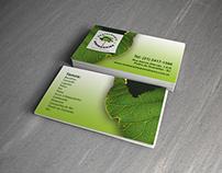 Cartão de visitas para Restaurante Amendoeira