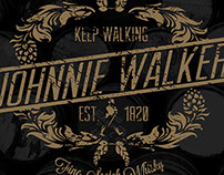 Johnnie Walker T-Shirt Design