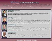Company Support & Mentors Flyer