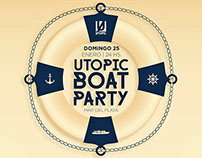 Afiches Utopic Boat Party - Fiesta en altamar