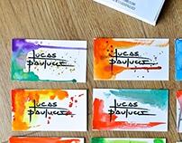 Handmade Business Card (New Identity Lucas Paulucci)