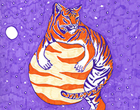 Space Tiger | Calendar Illustration