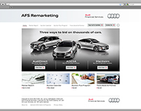Audi Financial Services Remarketing Site