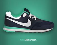 NIKE mid runner kicks
