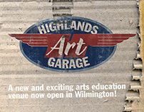 Highlands Art Garage postcard