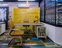 Lahore: Workspace by Aenzay Interiors 01B