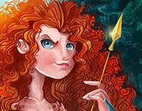 Fan art of Merida (Disney) for Art Jam