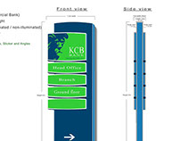 PYLON SIGNAGE proposal presentantion for KCB bank