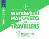 The Wanderlust Manifesto 2015 - Tshirt Design