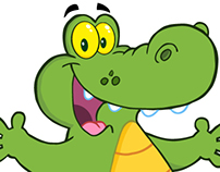 Crocodile Cartoon Mascot Character