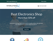 Retail Oriented Responsive Template Design Blue