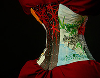 hand painted corset