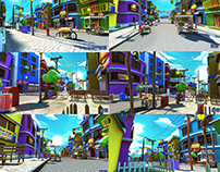 Burger City Stylized Virtual Set Env