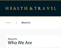 Health & Travel Web Design