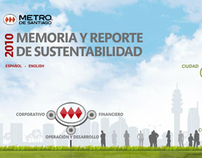 """Metro """"Memoria y Reporte de Sustentabilidad 2010"""