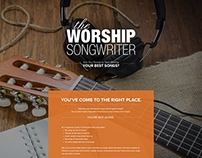 Worship Song Writer - Landing Page