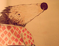 Mister crow, a worried mouse, and a vagabond hedgehog