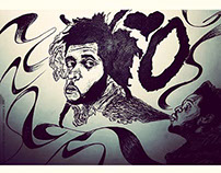 the weeknd illustration portrait