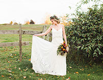 Fall Wedding Inspiration Photo Shoot