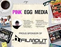Pink Egg Media Ad on FilmOut San Diego Festival Program