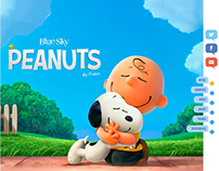 Peanuts Movie - Web design