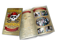 Pirate Themed Bifold Brochure Design