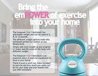 Empower Kettlebell Print Ad