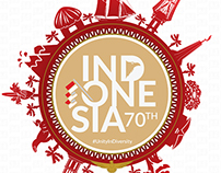 70th Indonesia Independence Day Vector Design.