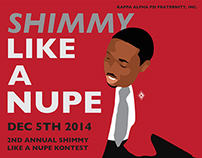"""""""Shimmy Like a Nupe"""" Event Flyer"""