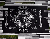 Chalk lettering for Bon App. Moscow