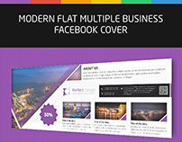 Modern Flat Multiple - Facebook Cover Template