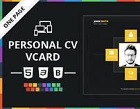 Personal CV Vcard