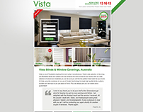 Vista Blinds Home Page Redesign