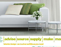 Web site for interior designer