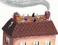 Cats on a Pink Clay Roof
