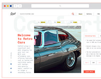 GRANT - Salon of retro cars website
