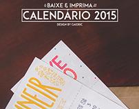 Calendário 2015 - Printable BR