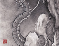 ink-painting Dragon