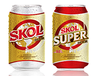 SKOL Beer Can Packaging