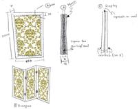 Folding Screen Divider