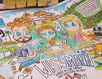 Los Wissmann - Family Cartoon Portrait