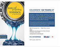 Exxon Mobil 100th Anniversary Celebration Invitation