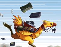 Quarter Page Illustration - Final Fantasy Franchise