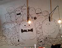 Wall Doodling- Deep Sea Creature by Lobak Fun