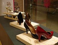 Оформление витрин для магазина обуви «Рандеву»