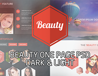 Beauty one page Design