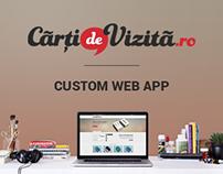 Custom Web App Business Card Editor - Cartidevizita.ro