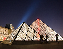 The Louvre on a winter night