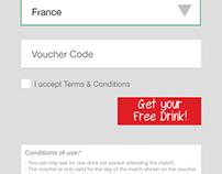 Landing Free Drink Form
