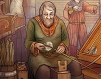 video - WIP Fantasy Game tile sketch